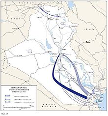 Timeline Of The Invasion Of Iraq Wikipedia - Map showing us and iraq