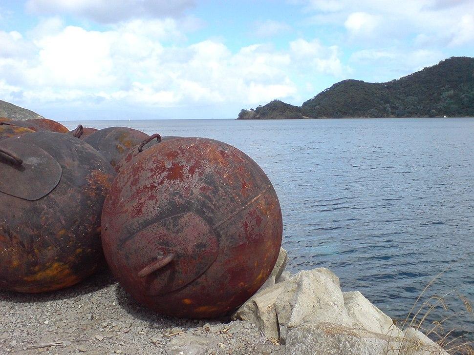 Iron Buoys Great Barrier Island