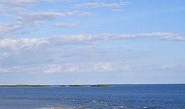 Isla de Jueyes, tomada mirando hacia el sureste desde la torre de observacion de La Guancha en Barrio Playa, Ponce, PR (CIMG3812C).jpg