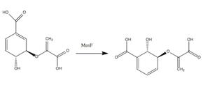 Isochorismate synthase - Image: Isochorismate Synthase Rxn