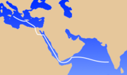The ancient navigation route from the Judeo-Roman world to the Malabar coast