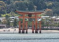 Itsukushima Floating Torii Gate, Northwest view from Ferry 20190417 1.jpg
