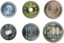 Coins of the Japanese yen.