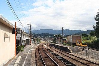 Izumo Yokota Station - Platforms, October 2007