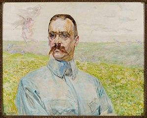 Portrait of brigadier Józef Piłsudski.