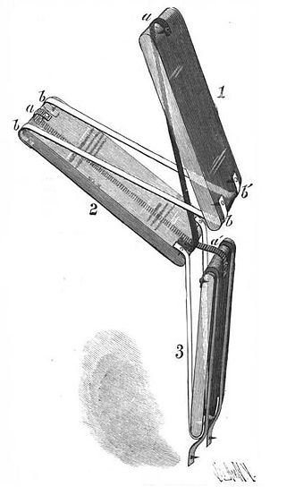 """Jacob's ladder (toy) - The mechanism of a Jacob's Ladder, """"Fig. 2"""""""