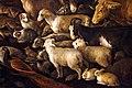 Jacopo bassano, orfeo incanta gli animali, 1585 ca. 06 cani pecore.jpg