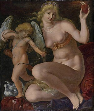 "Jacob de Gheyn II - Portrait of ""Venus and Cupid"", c.1605-1610"