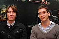 James and Oliver Phelps - Lucca Comics and Games 2011 - 2.jpg