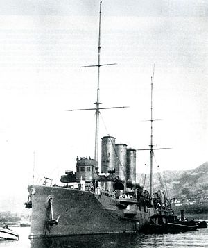Japanese cruiser Tsushima - At Kure, on completion in 1904