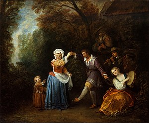 The Country Dance - Image: Jean Antoine Watteau The Country Dance Google Art Project
