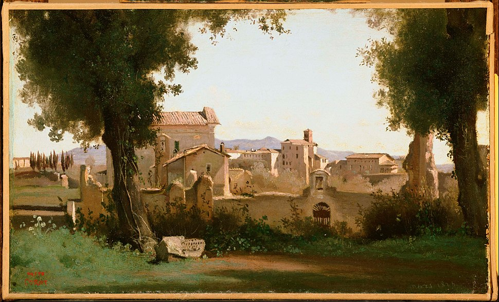 Jean-Baptiste-Camille Corot - View from the Farnese Gardens, Rome - Google Art Project
