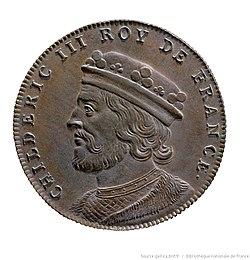 Jean Dassier (1676-1763) - Childéric III roy de France (754).jpg