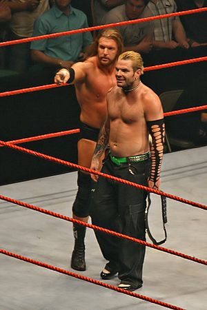 Armageddon (2007) - Triple H (left) and Jeff Hardy (right) had a respectful feud before Armageddon.