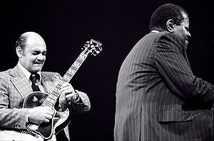 Oscar Peterson - Joe Pass and Oscar Peterson at Eastman Theatre Rochester, New York, in 1977