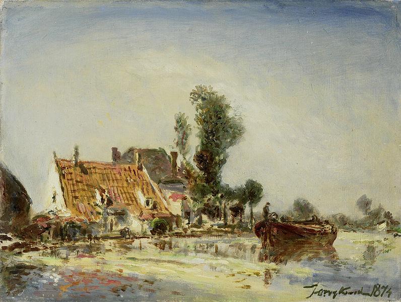 File:Johan Barthold Jongkind - Huizen aan een vaart bij Crooswijk.jpg