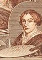 Johannes Christiaan Bendorp - portraits of Hendrik Noteman, Jacob Gole, Maria Schalcken en Wigerus Vitringa, Johannes Christiaan Bendorp RP-P-OB-26.582 (cropped).jpg