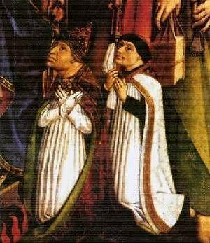 Johannes Hinderbach - Image: Johannes Hinderbach ed il suo cappellano