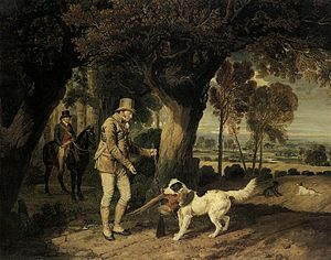 Wychnor Hall - John Levett Receiving Pheasant from Retriever on His Estate at Wychnor, James Ward, R.A., 1812