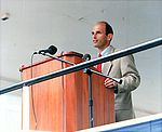 John Baldacci speaking at podium, August 12, 1995.JPEG