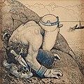 John Bauer - Troll på lur (Troll hiding behind cliffs).jpg