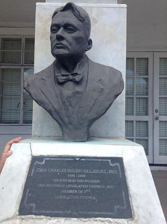 John Brudenell-Bruce - John Charles Brundell-Bruce outside the House of Assembly in Tortola, BVI