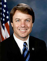 John Edwards, official Senate photo portrait