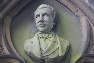 John Hill Burton - A bust of John Hill Burton as portrayed on his wife's grave in Dean Cemetery in Edinburgh (carved by William Brodie in 1881)