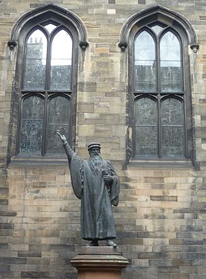 General Assembly of the Church of Scotland - Statue of John Knox outside the Assembly Hall