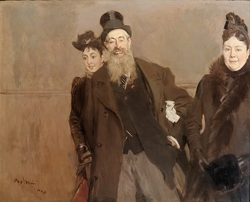 John Lewis Brown with Wife and Daughter by Giovanni Boldini 1890