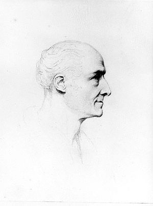 John Samuel Agar - Self-portrait, ca. 1835, Pencil. Now at the National Portrait Gallery