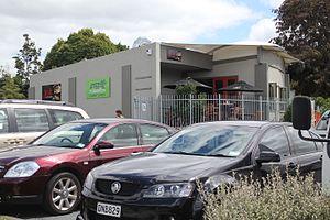 Maunu, New Zealand - Jolt café as seen from the Sciadopity's Garden Centre carpark.