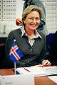 Jonina Bjartmarz, miljo- och samarbetsminister Island, under sessionen i Kopenhamn 2006.jpg