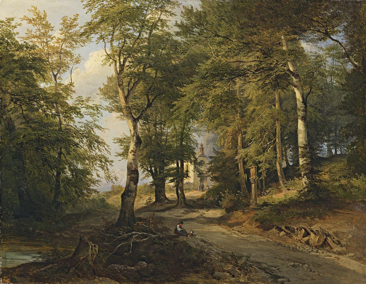 Joseph Höger - Kapelle im Wald, 1850.jpg
