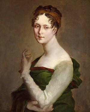 Français : portrait (inachevé?) de Josephine d...