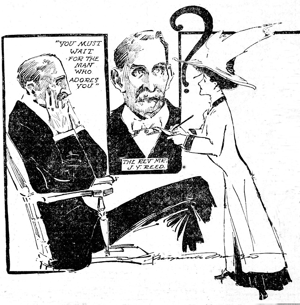 Journalist Marguerite Martyn interviews Rev. J.Y. Reed in 1908