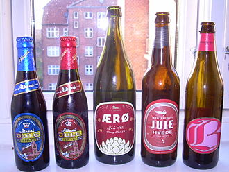 Beer in Denmark - Different bottles of Danish julebryg