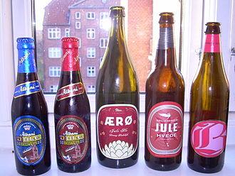 Beer in Denmark - Different bottles of Danish julebryg