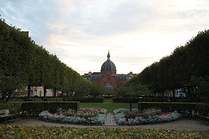 Frederiksberg - Julius Thomsens Square with St. Mark's Church in the background