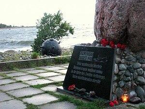 Soviet evacuation of Tallinn - Juminda monument.
