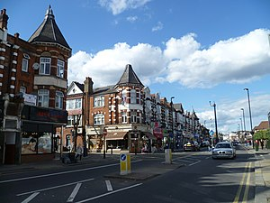 Green Lanes (London) - Where Green Lanes temporarily becomes High Road, Wood Green.