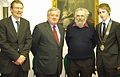 Justice Adrian Hardiman, Joseph Raz and Niall Ó hUiginn - 20090224.jpg