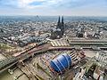 Kölner Dom Luftbild Bahnhof - cologne aerial (25326253726).jpg
