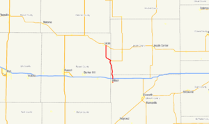 K-232 (Kansas highway) - Image: K 232 map