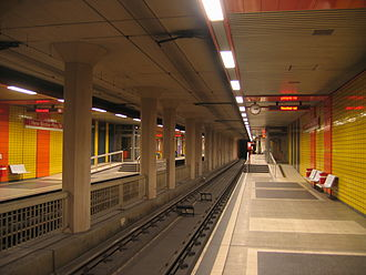 Köln West station - The Stadtbahn station