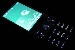 Sony Ericsson K800i - The phone in complete darkness