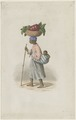 KITLV - 36A227 - Borret, Arnoldus - Old woman with a child on the back and a basket on the head - Water colour - Circa 1880.tif