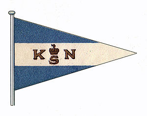 Burgee - Burgee of KNS, The Royal Norwegian Yacht Club, adopted in 1906.