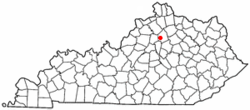 Location of Stamping Ground, Kentucky