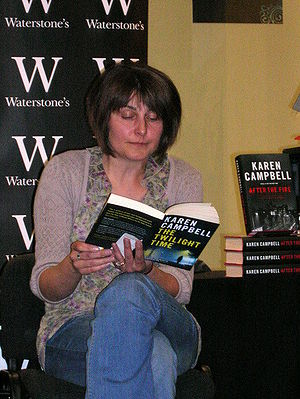 Karen Campbell, crime fiction author, giving a...